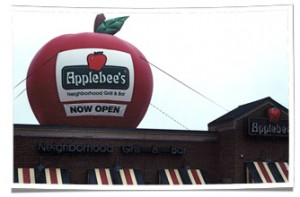 Inauguration d'Applebee gonflable